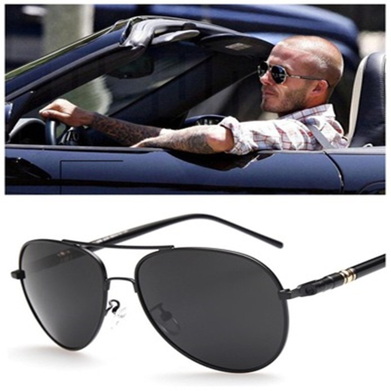 Pilot Polarized Sunglasses Classic Male Sun Glasses Driving Fishing Skating Sunglasses Mirror Metal Frame Fashion Anti-UV
