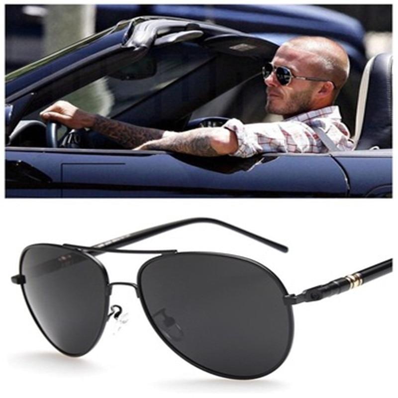 Pilot Polarized Sunglasses Classic Male Sun Glasses Driving Fishing Skating Sunglasses Mirror Metal Frame Fashion Anti-UV