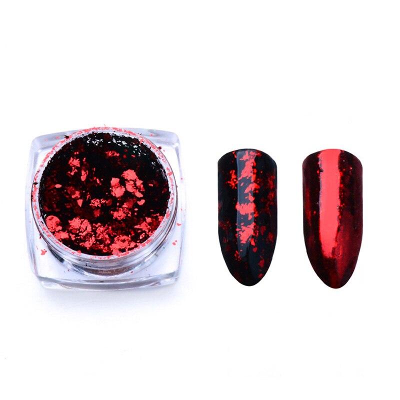 Волшебное зеркало блеск для ногтей Dip порошок Сияющий хром пигмент пыль голографическое искусство ногтей Маникюр УФ пудра для ногтей гель лак - Цвет: VH4226