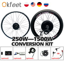 E Bike Conversion Kit 48V 1000W 1500W 36V 250W 500W Hub Motor MTX Rad LCD Display Elektrische Fahrrad Conversion Kit