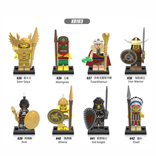 X0163 Single Sale Building Blocks Super Heroes Medieval Knights Arvoesine Rome Commander Figures Collection Toys For Kids Gift
