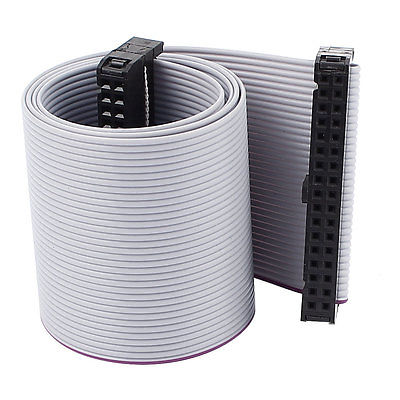 IDC 34 Pin 34 Way F//F Connector Flat Rainbow Ribbon Cable 48cm