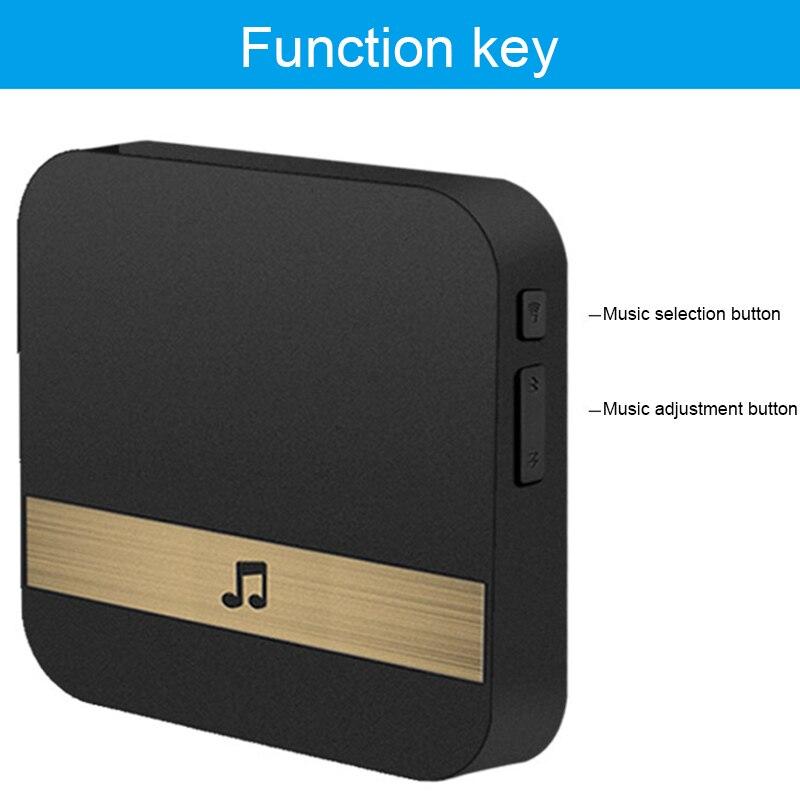 Wireless Wifi Smart Video Doorbell 433MHz Music Box Music Receiver Door Bell Home Security Intercom HSJ-19