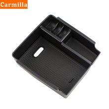Carmilla ABS podłokietnik centralny konsoli pudełko z tackami dla Hyundai IX25 Creta 2015 2016 2017 2018 akcesoria