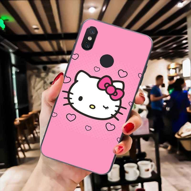 MaiYaCa Mignon Kawaii Hello Kitty étui de téléphone pour xiaomi mi5 6 A1 A2 Lite Mi9 9SE mi8lite F1 Mix2 2S Max2 3