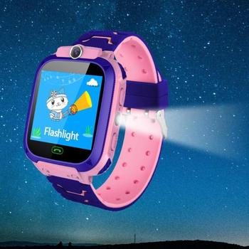 Children Smart Watch Camera Lighting Touch Screen SOS Call Touch Screen LBS Tracking Location Finder Kids Baby Smart Watch 5