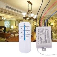 цена на 4 Way Light Lamp Digital Wireless Remote Control Switch ON/OFF 220V
