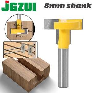 """Image 1 - Enrutador de ranuras en T y t track de alta calidad, caña para trabajar la madera, cortador de cinceles de 8 """"y 8"""", 1 Uds."""