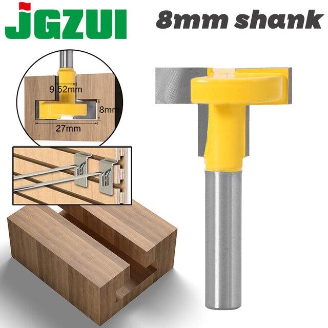 """Enrutador de ranuras en T y t track de alta calidad, caña para trabajar la madera, cortador de cinceles de 8 """"y 8"""", 1 Uds."""