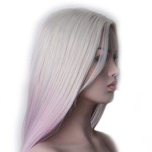 Image 4 - Woodfestival feminino resistente ao calor ombre peruca sintética longo cabelo reto cosplay perucas para mulher