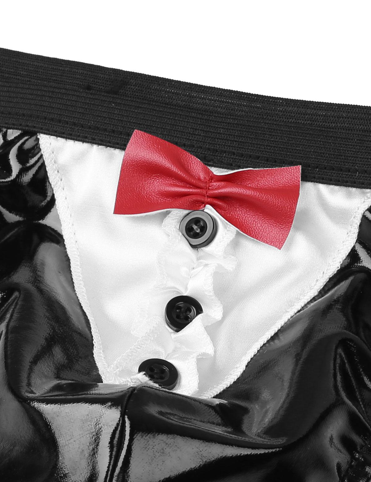 Мужские костюмы на Хэллоуин G-Strings Стринги Нижнее белье Трусики-бикини мужские гей пятна мужские трусики Мужское нижнее белье трусы купальник