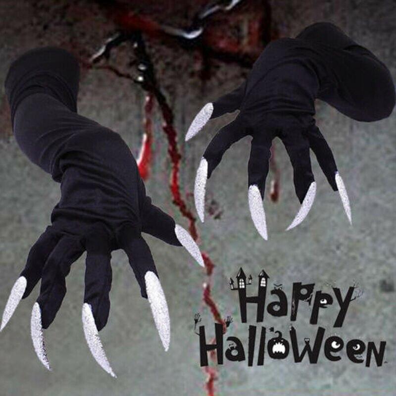 Guantes Largos de Halloween Guantes de Tela Traje de Disfraces Apoyos