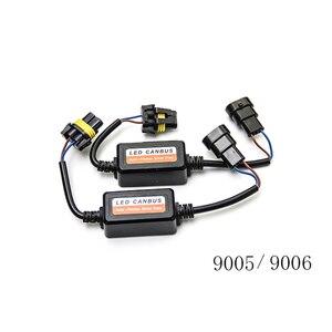 Image 4 - 2PCS H1 H11 H4 H7 LED 9005 9006 Canbus Car Headlight Decoder Wiring Adapter DRL LED Lamp Error Canceler Fog Light Canbus