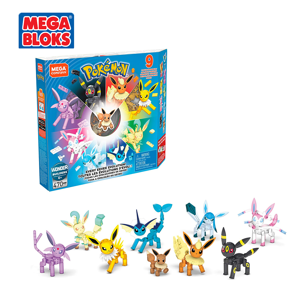 MEGA BLOKS Building Blocks Toy Pokemon Series Ibrahimovic Evolution Set Small Block Toy Set Kids Toys Christmas Gift GFV85 1