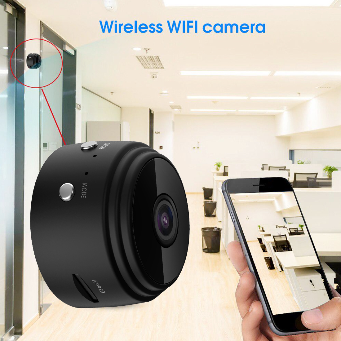 1080P Mini Wireless Camera A9 Camera Home Security Surveillance Camera Motion Detection IR Night Vision App Remote Monitor