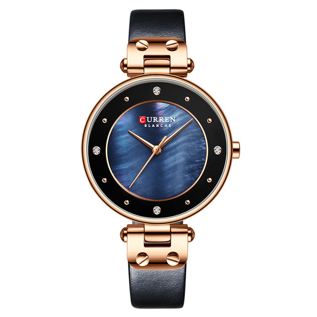 Curren Brand Women's Watches Fashion Leather Wrist Watch Ladies Watches Top Brand Luxury Watches Women Fashion Watch 2019