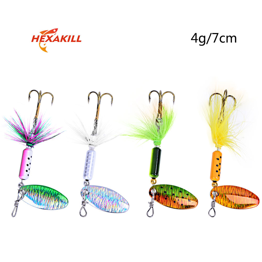 Hexakill 1Pcs 4g 6g Spinner Spoon Metal Lure For Trout.   Free Shipping 2