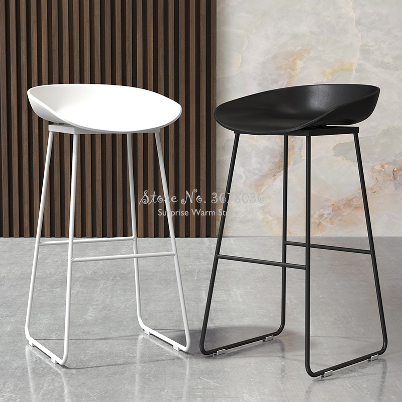 65cm Modern Nordic Bar Stool Wrought Iron Bar Chair Home Back High Chair Creative Cafe Gold Bar Stool Dining Chair 150kg Bearing