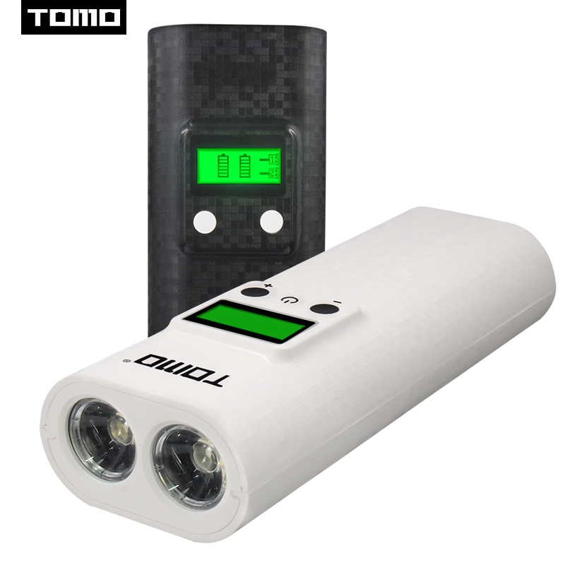 TOMO flash light 18650 charger LED display battery charge powerbank K2