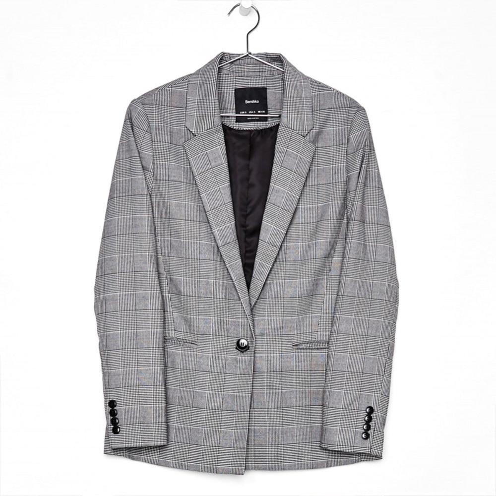 Blazer Women Plus Size Ladies Suit Jacket Spring /Autumn Casual Loose Plaid Suit Female Womens Jackets and Coats Women Clothes