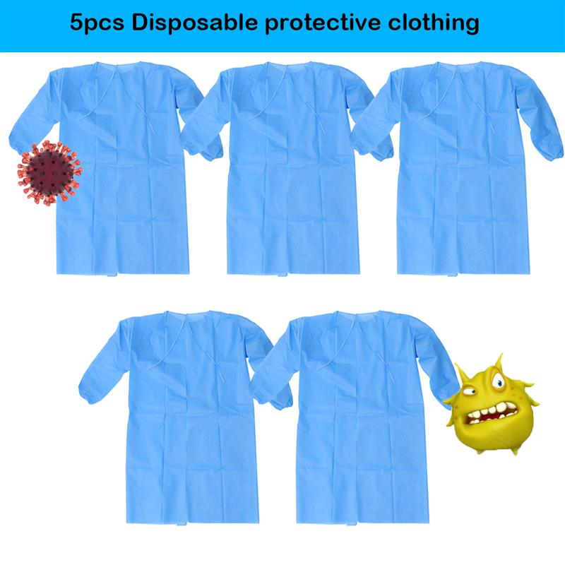 Blue Disposable Protective Clothing Surgical Gown Light Dustproof Clothes Overalls Tattoo Clothes Aprons Cleanroom Garment