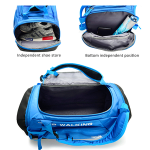 Image 4 - Esportes ginásio saco à prova dwaterproof água sacos de esportes para homens fitness yoga treinamento bolsa com compartimento sapato viagem saco do esporte 30l