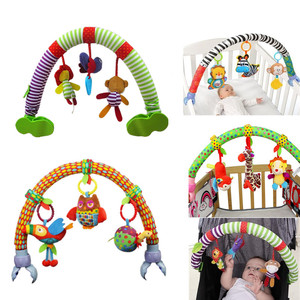 Image 1 - SOZZY Baby Hanging Toys Stroller Bed Crib For Tots Cots rattles seat plush Stroller Mobile Gifts animals Zebra Rattles 40% off