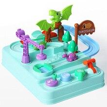 Puzzle-Toy Track Taxi Dinosaur Inertia Elevator-Race-Adventure Birthday-Gift