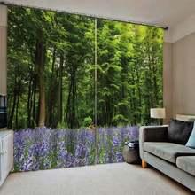 Пользовательские леса пейзажи занавески s 3d печать затемненные