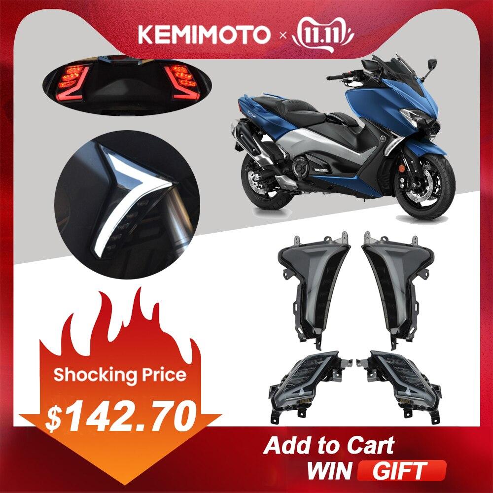 KEMiMOTO For TMAX 530 LED Turn Signal Lights Rear Tail Brake Light For Yamaha TMAX530 TMAX 530 2017 2018 2019 SX DX  Blinker