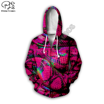 New Men Women 3D Print Animal freak Snake zipper Hoodies trippy Harajuku sweatshirt fashion Pullover hooded plus sizes outwear