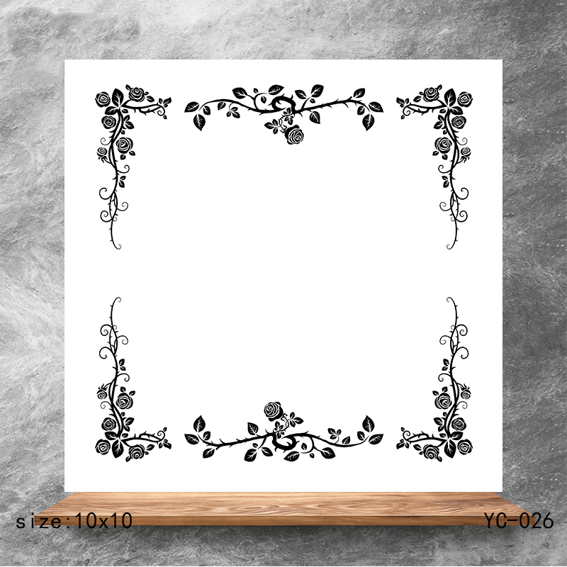 ZhuoAng Flower frame Clear Stamps/Silicone Transparent Seals for DIY scrapbooking photo album Stamps