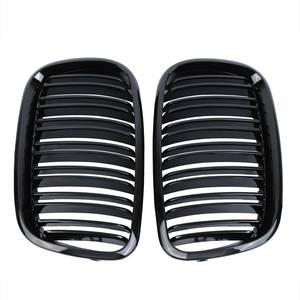 Image 3 - Samger para X5 X6 czarny błyszczący podwójna listwa kratka nerkowa przednia krata zderzaka dla BMW X5 E70 X6 E71