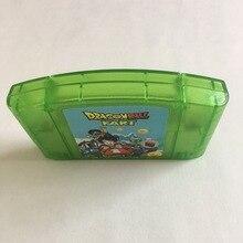 Cartucho de jogos n64 bit para dragonball, versão dos eua, transparente, verde, concha em língua inglesa