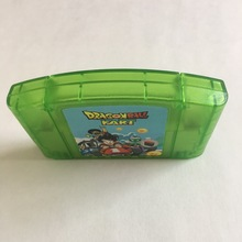 Dragonball cartucho de videojuegos N64, Cartucho de versión estadounidense de 64 bits, carcasa verde transparente en idioma inglés