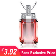 JewelryPalace 6ct Emerald Cut Nano Simulated Zultanite Color Change Diaspore Pendant Necklace 925 Sterling Silver Without Chain