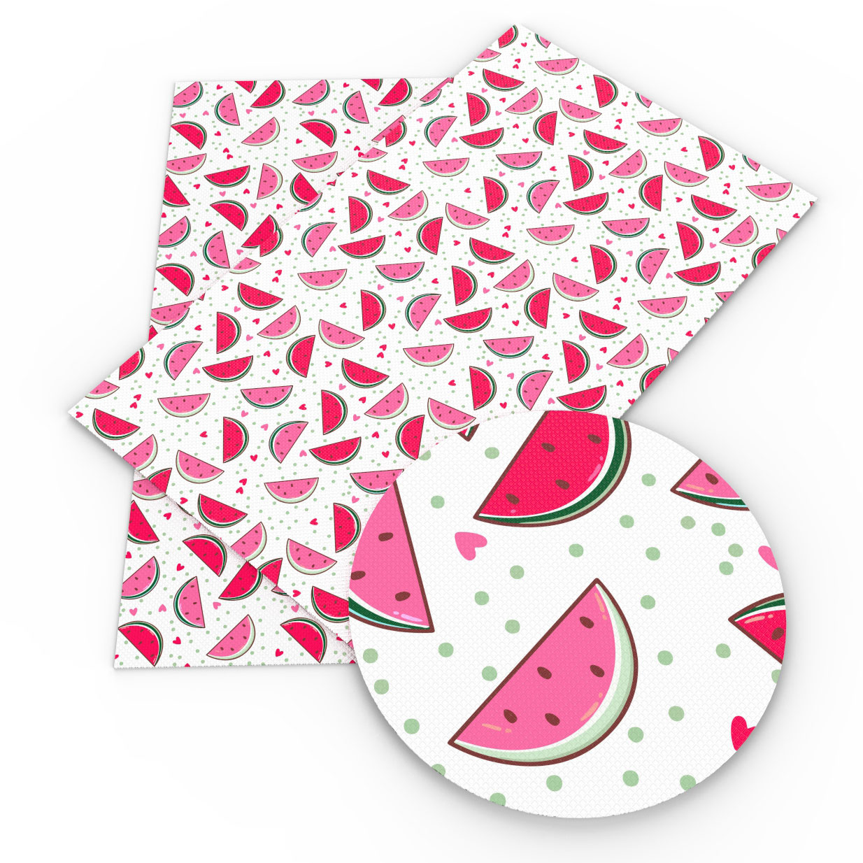 David accessories 20*33cm flower watermelon dots star Faux Synthetic Leather Fabric, DIY Sewing HairBow Bags Crafts,1Yc5022