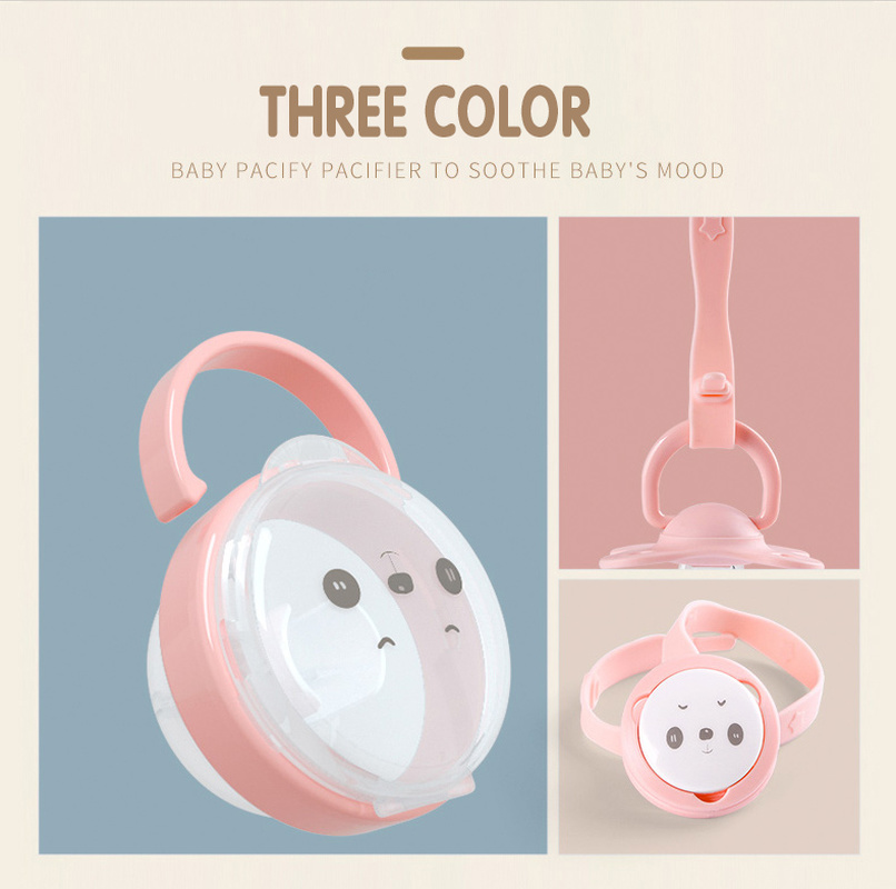 2019  Portable Baby Pacifier Nipple Kid Travel Case Cartoon Expression Nipple Storage Box Soother Container Holder Accessories
