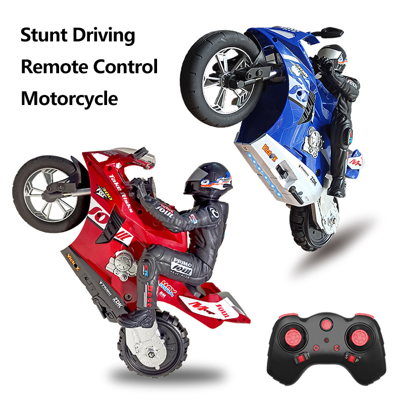 High Speed Drifting Remote Control Motorcycle Automatic Balance Stunt Stand In Place Rotation Shockproof Electric RC Toy For Kid