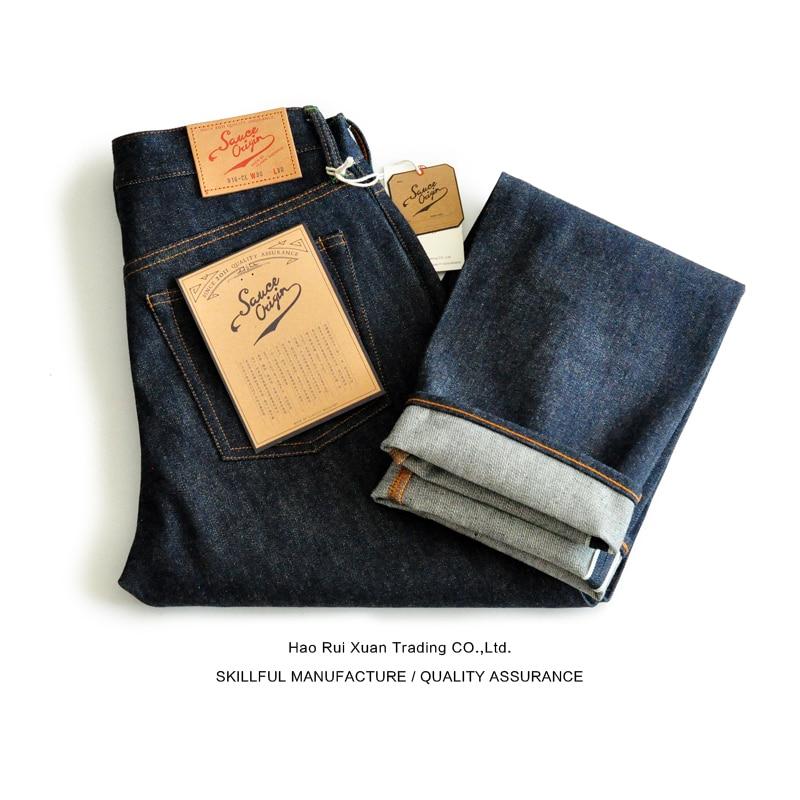 SAUCE ORIGIN 916-CL Straight Fit Jeans Men Mens Jeans Brand Selvedge Jeans Raw Denim Jeans American Cotton Vintage Biker Jeans