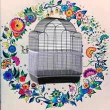 ホット販売風通し鳥ケージ種子キャッチャーprotiveは庭のアクセサリーストレッチナイロンメッシュネットカバーオウムケージスカートジャルダン