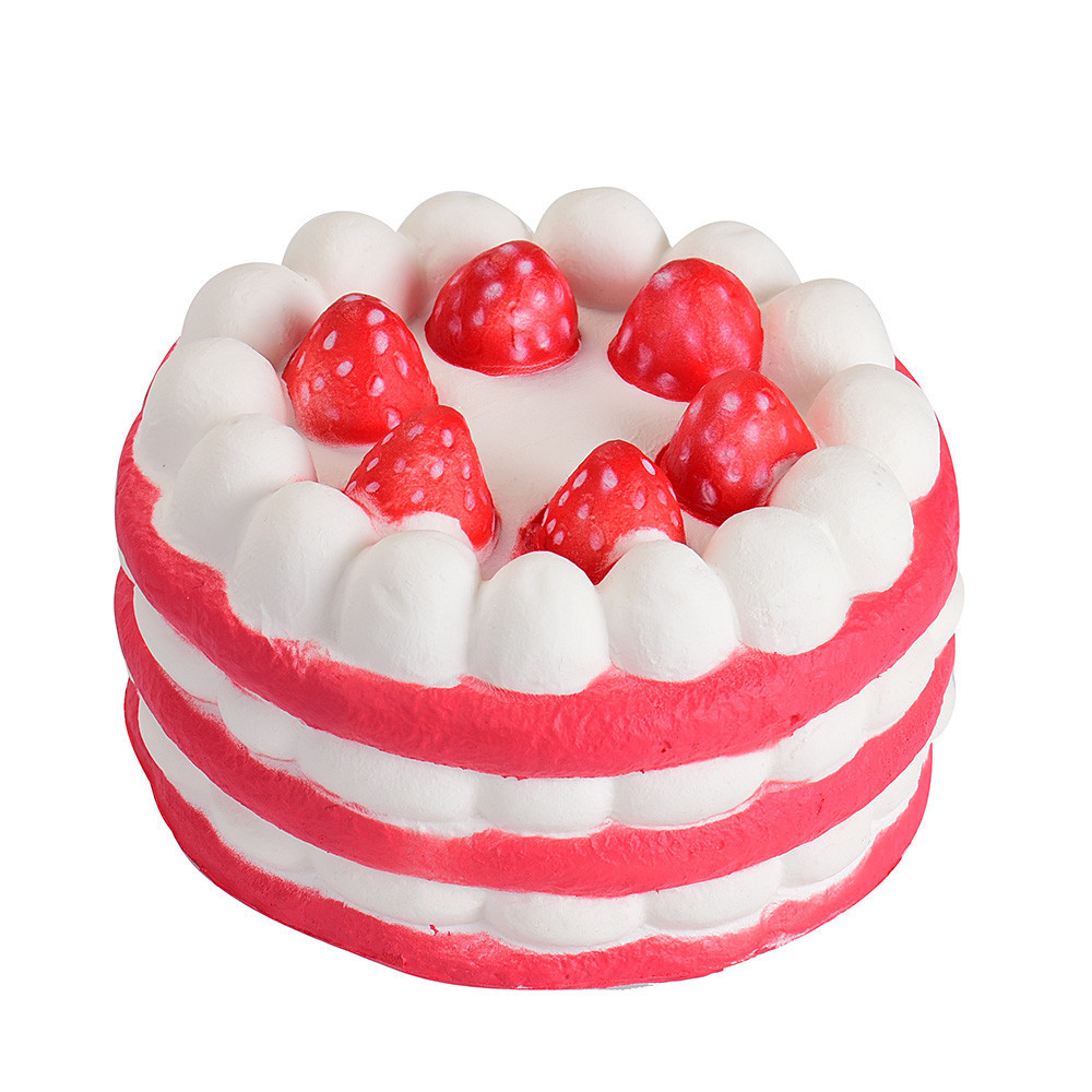 Cute Mini Strawberry Cake Stress Reliever Anxiety Props Decompression Kids Toys Slow Rising Antistress Toy #A