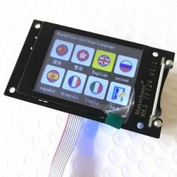 Impressora 3d unidade lcd mks tft24 tela sensível ao toque reprap painel controlador tft 24 display a cores completas sainsmart tela de respingo monitor