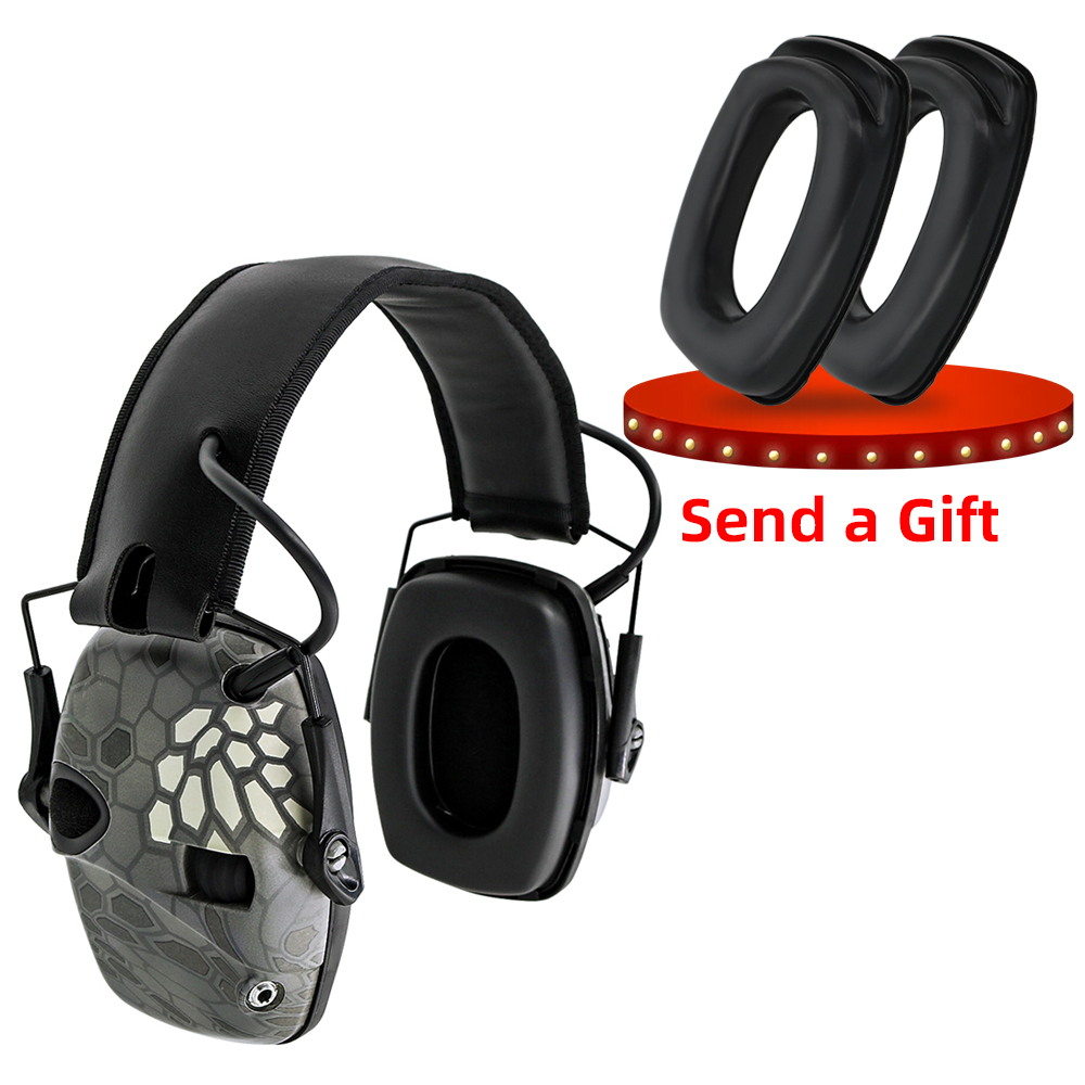 Electronic Ear muff Tactical Headset Anti noise Sound Amplification Shooting Hunting Ear Protection Protective Tactical EarmuffEar Protector   -