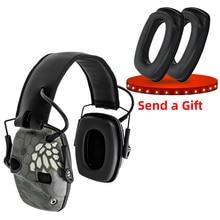 Orelha eletrônica muff fone de ouvido tático anti ruído som amplificação tiro caça proteção da orelha proteção tático earmuff