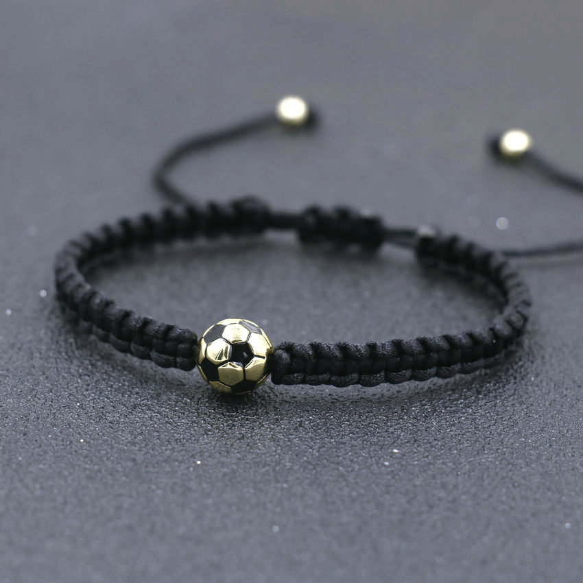 Minimalism Copper Gold Color Ball Charm Bracelet Black Thread Braid Bracelets For Women Men Girls Boy Kids Couples Jewelry Gift