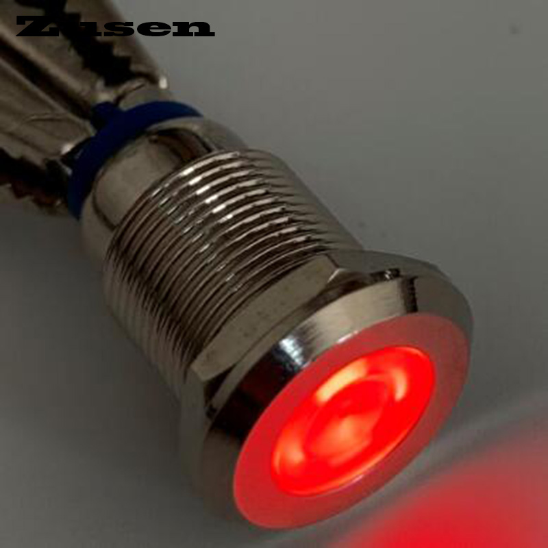 Zusen <font><b>12mm</b></font> 12V 24V 220V signal indicator lamp <font><b>led</b></font> light(ZS12-D/R/12V/N) image