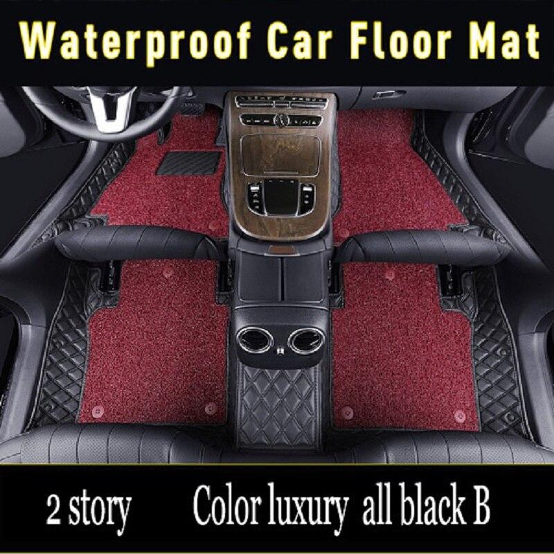 Waterproof car floor mats for Mercedes BenzG class W460 W461 W463 AMG G55 G63 G320 G350 G500 280 320 350 500