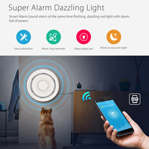 Image 4 - Haozee 3 In 1 Wifi Siren Alarm Linkage With Temperature Humidity Sensor Tuya Smart Life Alexa Google Home