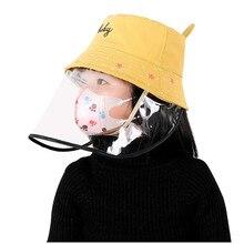 Anti-spitting children anti virus coronavirus dust mask for child anti flue spittle anti dust cover full face eyes protect mask